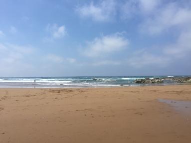 Pano of Larrabasterra Beach