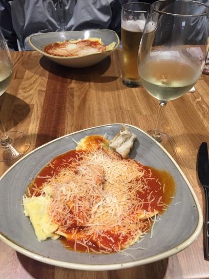 Ravioli's con Moscato