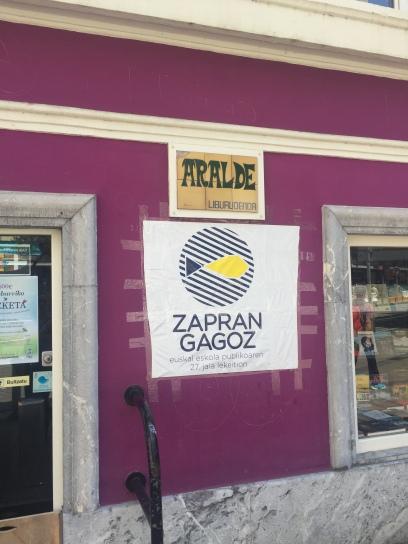 """Zapran Gagoz means """"We are lucky"""" in Basque"""