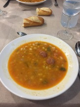 Soup (and bread, of course) for lunch!