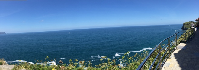 Pano of the ocean