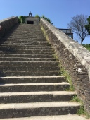 Stairs leading to the city