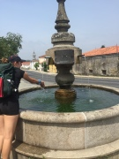 Stopped to check out the water fountain