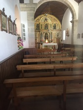 Inside of the church in Melide