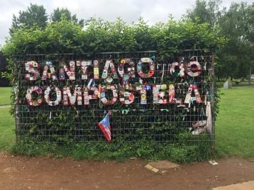 Entering the city of Santiago