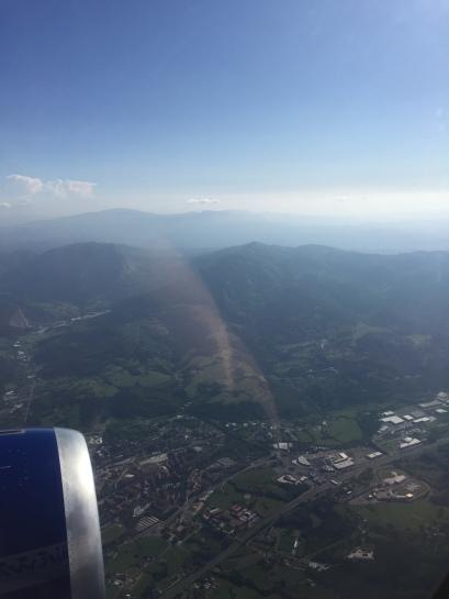 Flying into Bilbao