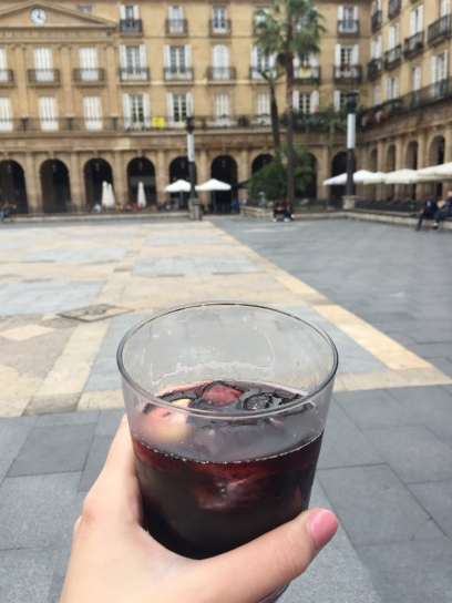 First Sangria in Spain