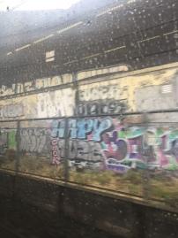 Passing graffiti on the metro
