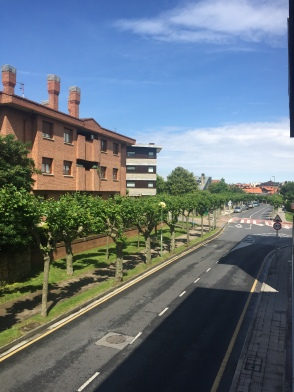 A rare sunny morning in Getxo