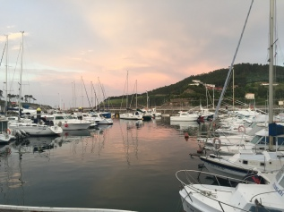 Sunset over the boats