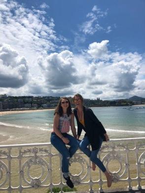 Megan and I in San Sebastian