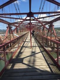 Walked across this very sketchy bridge