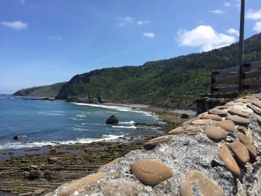 Watching the waves crash ashore