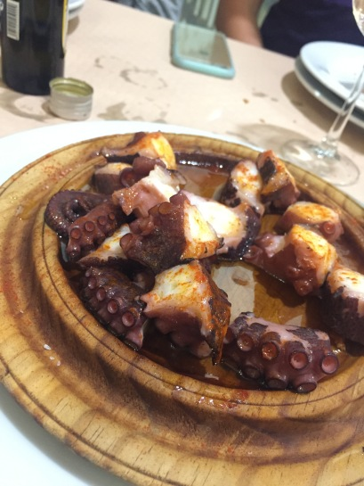 Octopus - very common in Basque country