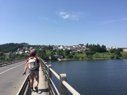 Arriving to Portomarín