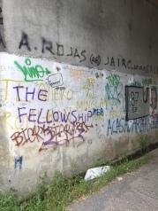 Graffiti in a tunnel