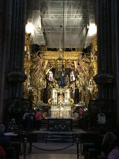 Inside the Santiago Cathedral